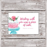 Cake Business Thank You Cards Watercolor Cake Design 7