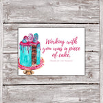 Cake Business Thank You Cards Watercolor Cake Design 8