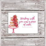 Cake Business Thank You Cards Watercolor Cake Design 9