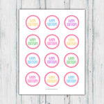 Colorful Happy Birthday Cupcake Toppers Printable