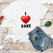 Load image into Gallery viewer, I heart cake 2 Shopify T-shirt mockup