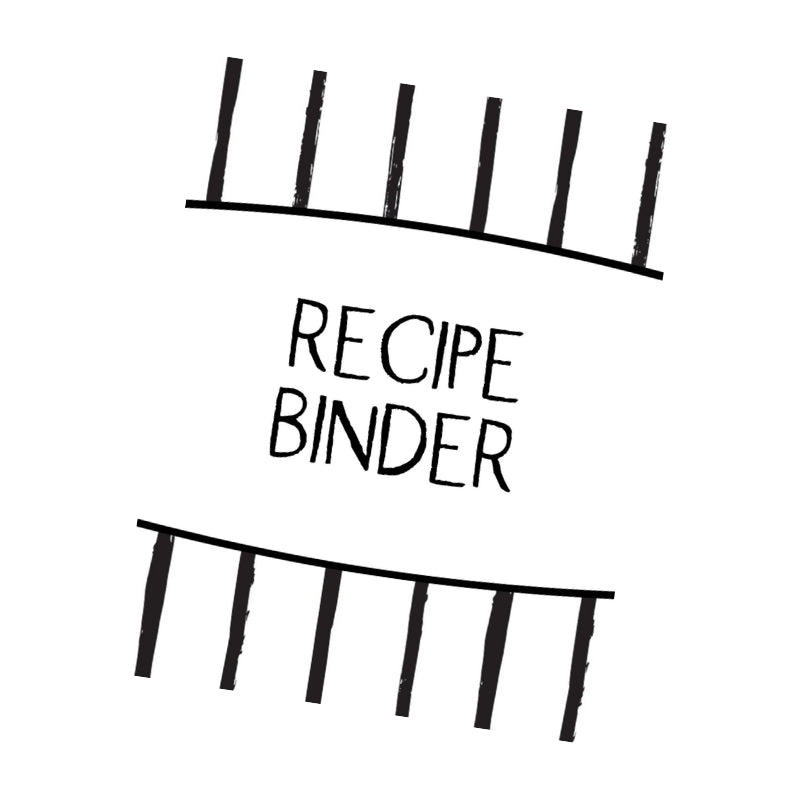 Recipe Binder Black and White Design Cover Page