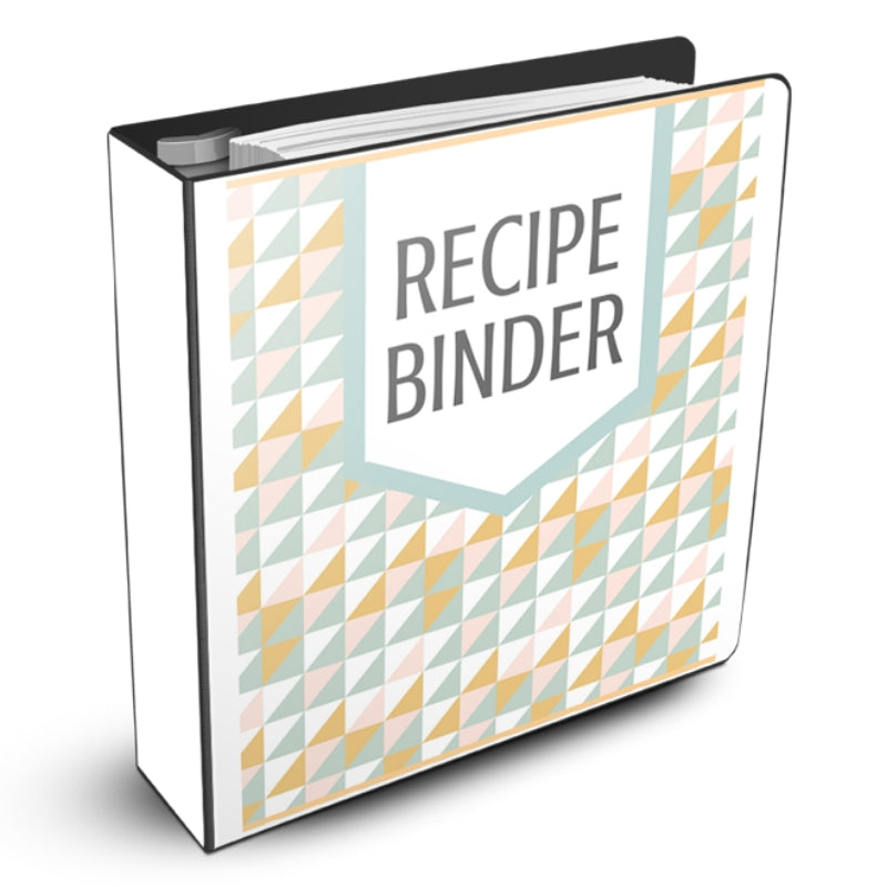 Recipe Binder Geometric Design Mockup