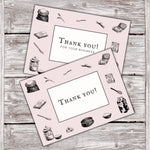 Thank You Cards Vintage Baking Ingredients Design 1