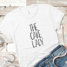 Load image into Gallery viewer, The cake lady Shopify T-shirt mockup