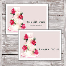Load image into Gallery viewer, Cake Business Thank You Cards Watercolor Cake Design Version 2 10