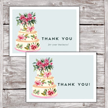 Load image into Gallery viewer, Cake Business Thank You Cards Watercolor Cake Design Version 2 11