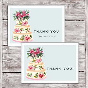 Cake Business Thank You Cards Watercolor Cake Design Version 2 11