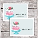 Cake Business Thank You Cards Watercolor Cake Design Version 2 3