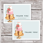 Cake Business Thank You Cards Watercolor Cake Design Version 2 5