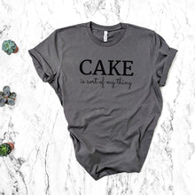 Load image into Gallery viewer, cake is my thing grey shirt mockup
