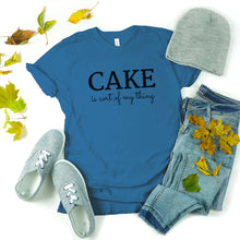 Load image into Gallery viewer, cake is my thing blue shirt mockup