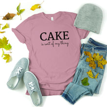 Load image into Gallery viewer, cake is my thing lilac shirt mockup