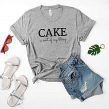 Load image into Gallery viewer, cake is my thing light grey shirt mockup