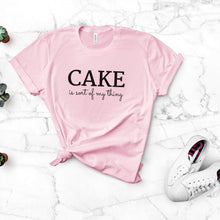 Load image into Gallery viewer, cake is my thing pink shirt mockup