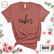 Load image into Gallery viewer, mauve caker tshirt mockuup with roses