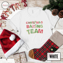 Load image into Gallery viewer, Christmas baking team white shirt on christmas background