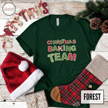 Load image into Gallery viewer, Christmas baking team forest shirt on christmas background