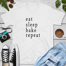 Load image into Gallery viewer, eat sleep bake 1 Shopify T-shirt mockup