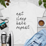 eat sleep bake 2 Shopify T-shirt mockup