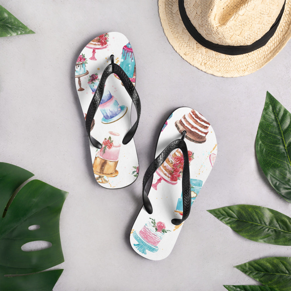 Decorated Cakes Flip-Flops