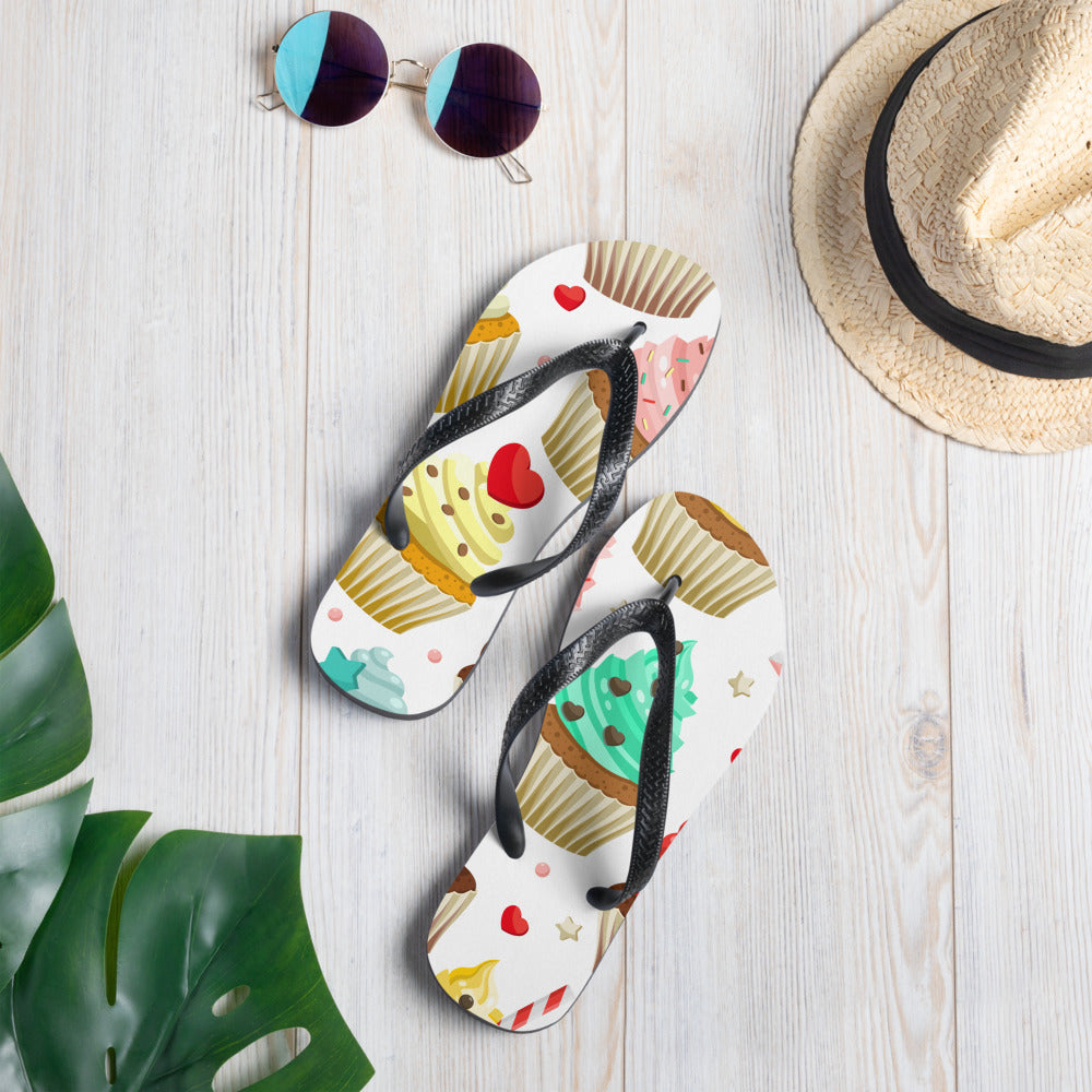 Colorful Cupcakes Flip-Flops