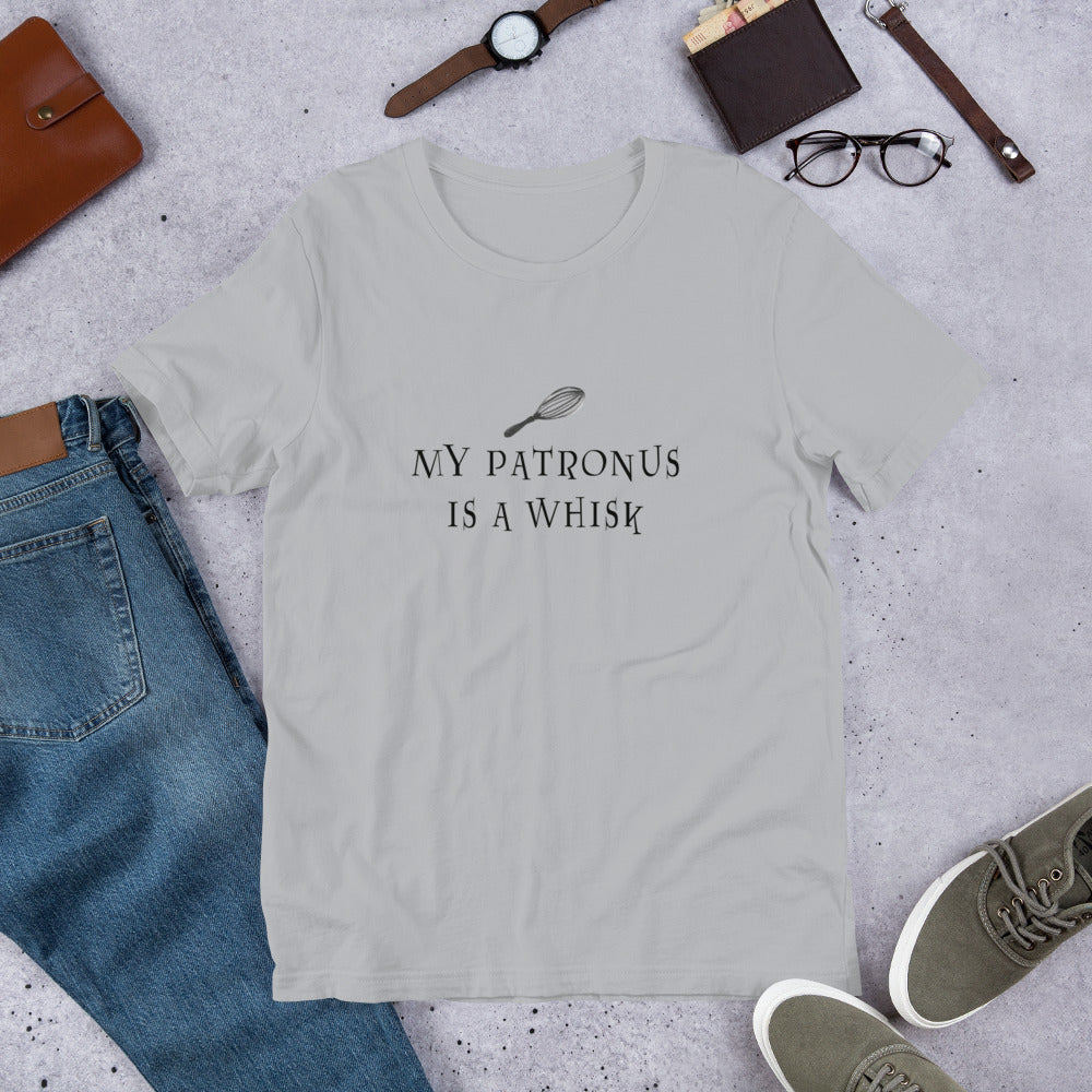 My Patronus is a Whisk Short-Sleeve Unisex TShirt gray
