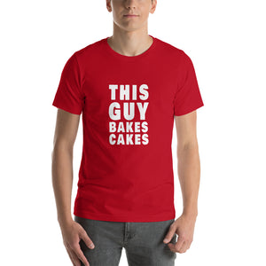 This Guy Bakes Cakes Short-Sleeve Unisex TShirt red