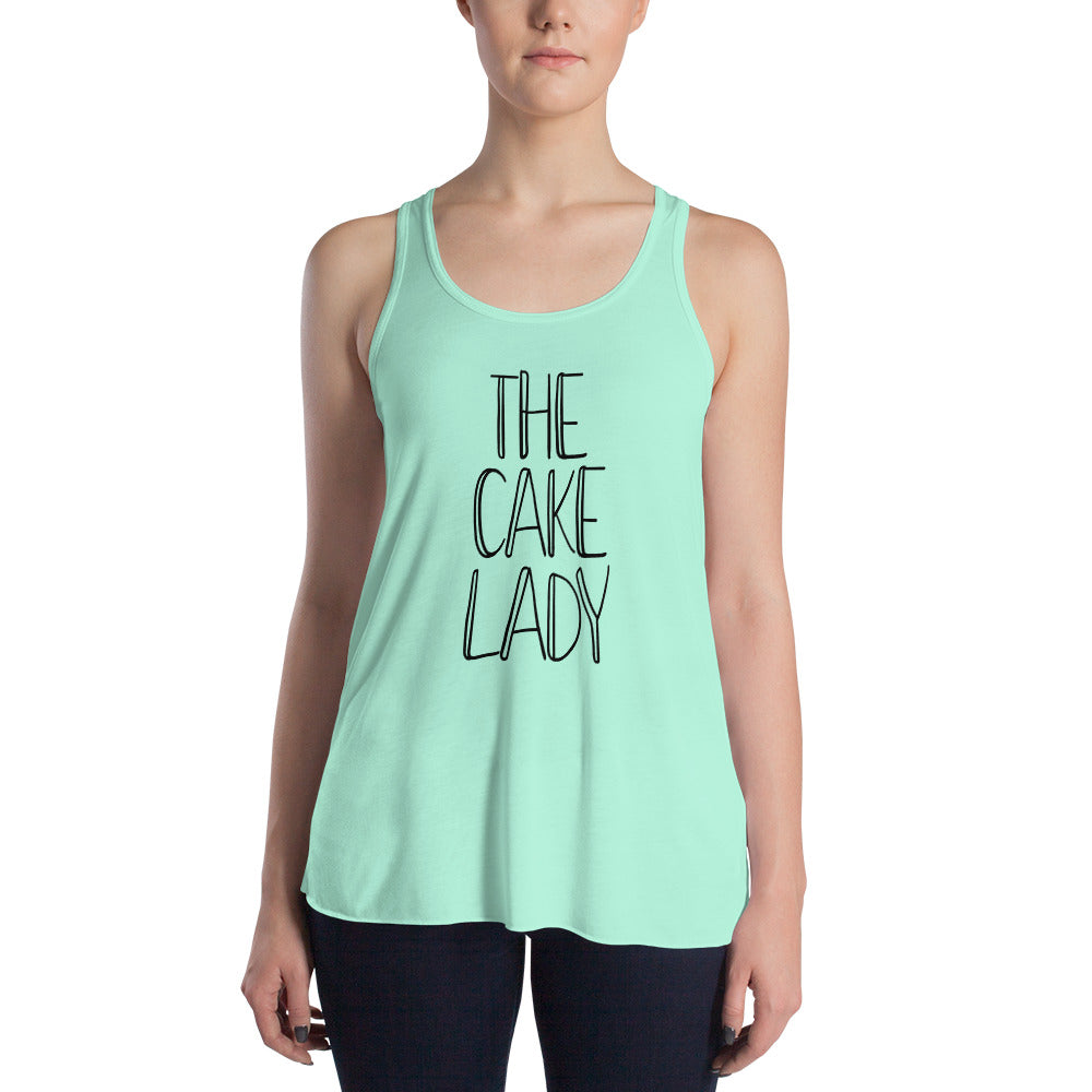 The Cake Lady Women's Flowy Racerback Teal