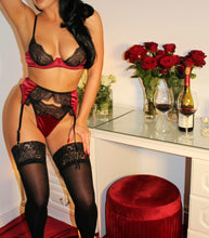 Load image into Gallery viewer, Valentina's Garter Belt Red