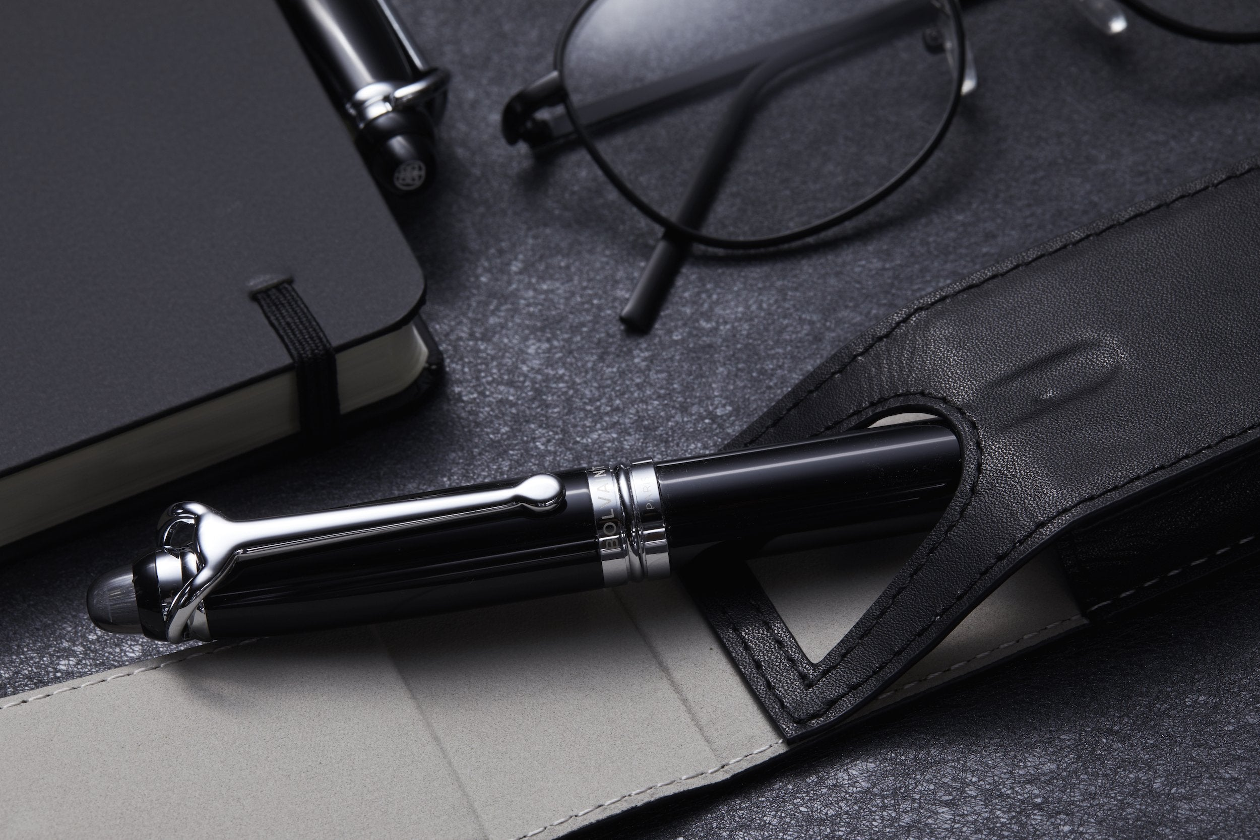 Bolvaint Odyssey Sévigné Pen Set – Onyx Black and Prussian Blue