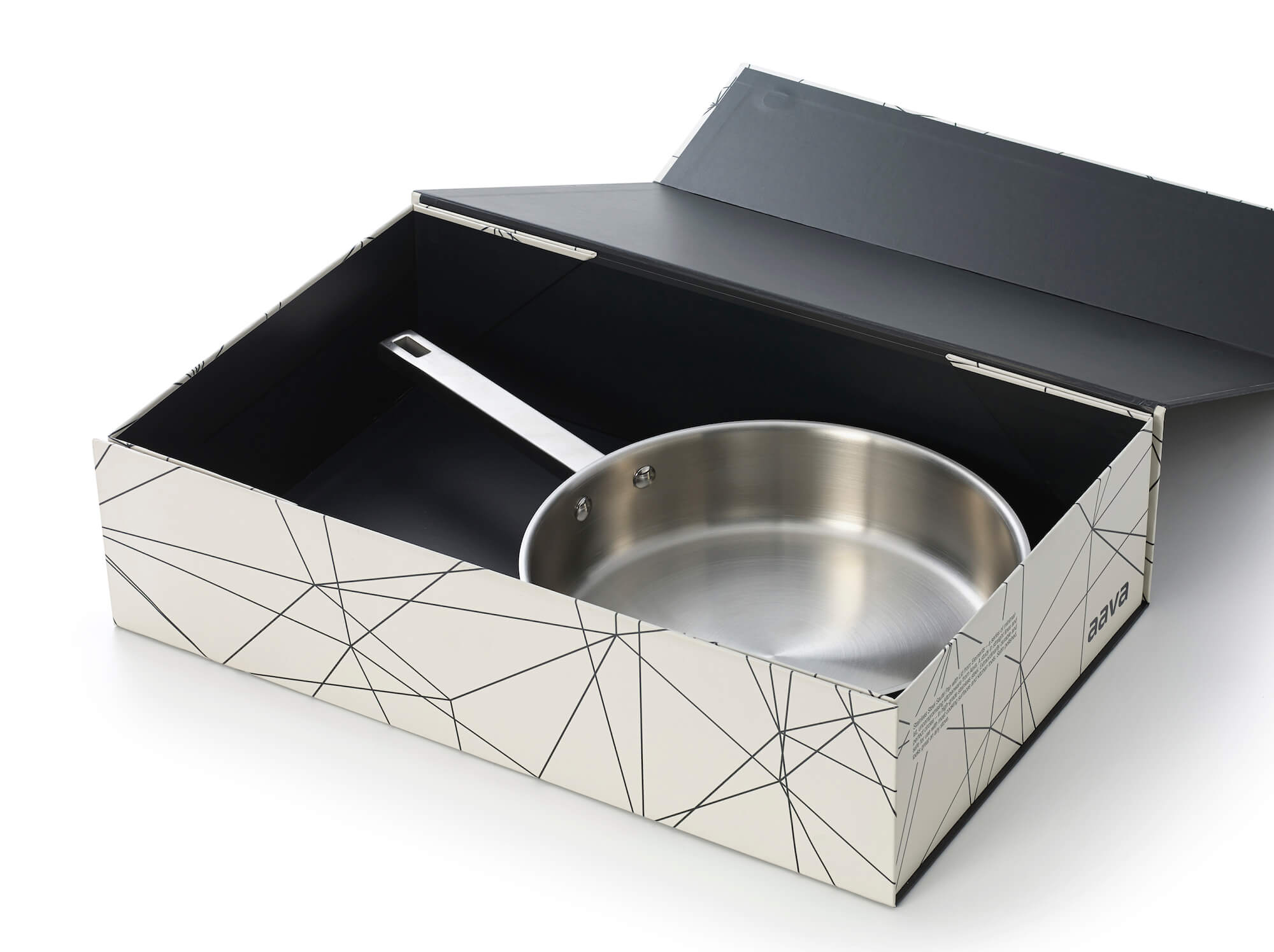 Aava Elements Stainless Steel Sauté Pan with lid