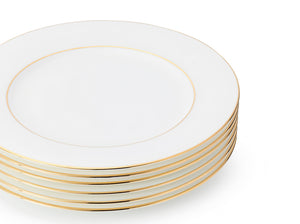 J.W Krogman The Allingham Gold Tableware Collection – Set Of 6 Salad Plates In Fine Bone China