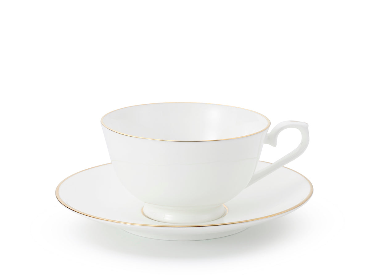 J.W Krogman The Allingham Gold Tea Collection – Set Of 6 Cups & Saucers In Fine Bone China