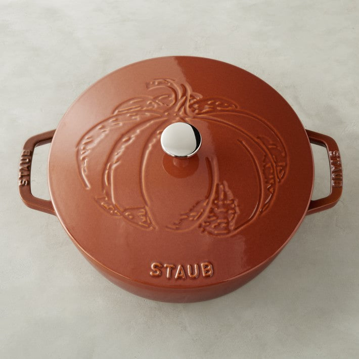 Staub Cast-Iron Essential French Oven, Pumpkin Design