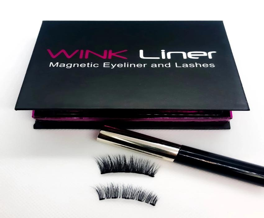 Wink's double lash kit and magnetic eyeliner. Audrey lash for a more natural look and the Marilyn for extra volume and length.