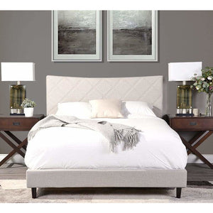 Mazin King Bed in Beige