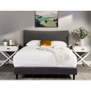 Mazin King Bed in Dark Grey