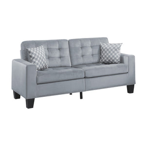 Contemporary Upholstery Collection Sofa With 2 Pillows