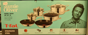 JAMIE OLIVER T-fal Stainless Steel 10 PC Cookware Set