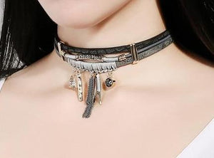 Leather Necklace_03n/ Other 2 Colors Available