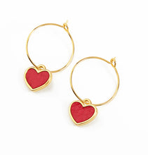 Leather Heart  Earrings