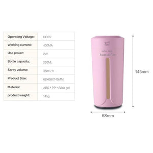Ultrasonic Air Humidifier/ 7 Color Lights