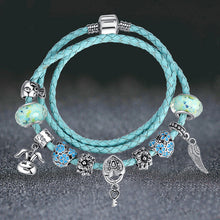 Blue Leather Bracelet_16sl