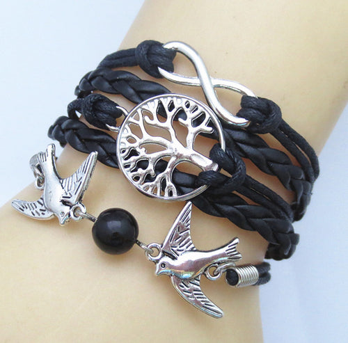 Leather Charm Bracelet_01ll /  11 Colors available, Click to review