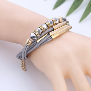 Leather Bohemian Bracelet_11al// 4 Colors Available; Click to  View