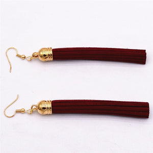 Fashion Leather Drop Earrings _35le/ 6 Colors Available, Click to View