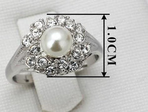 Pearl Crystal Ring