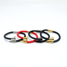 Leather Charm Bracelet_01ln / 2 Colors Available, Just Click to View