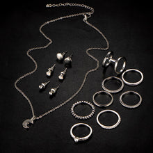 Jewelry Set; Necklace, Rings, Earrings
